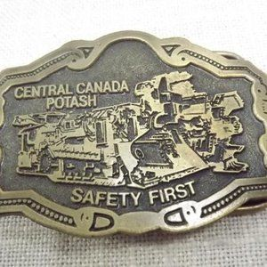 Vintage Central Canada Potash Mining Belt Buckle